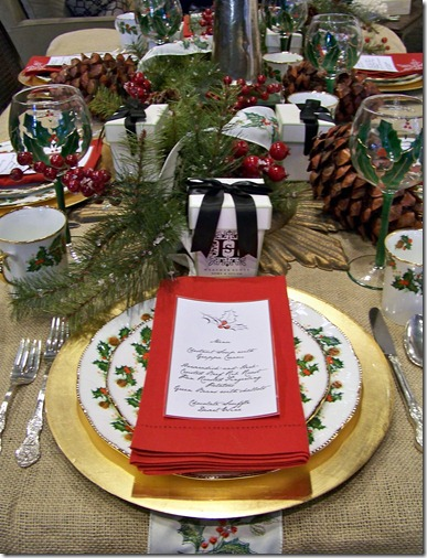 traditional tablescape with menucard