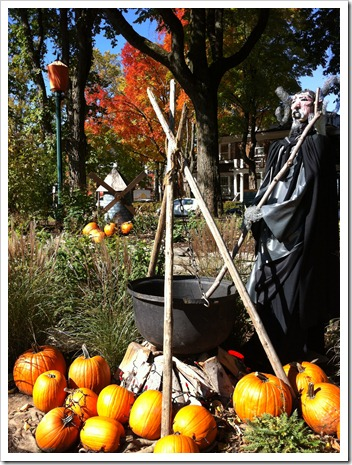 fall decor, cauldron