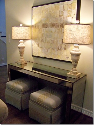 console table area by heather scott home and design