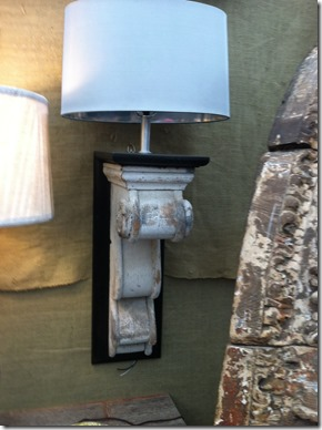 corbels as wall sconces