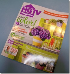HGTV magazine cover featuring Heather Scott Home and Design