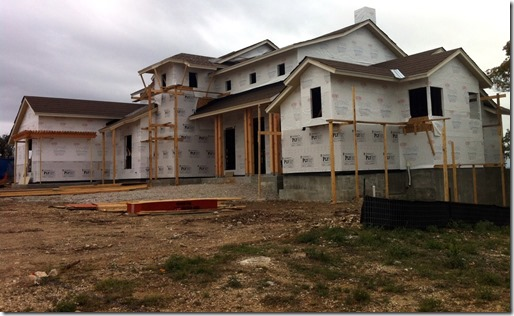 Exterior view of austin parade home, other side