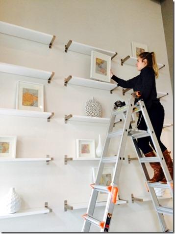 filling wall shelves