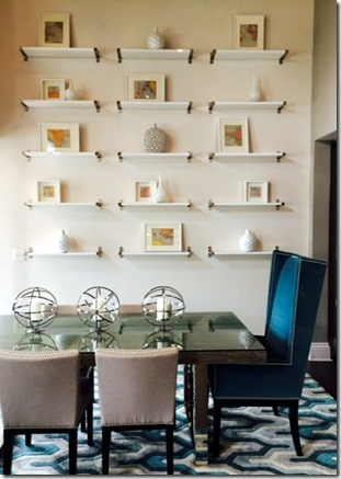 Heather scott commercial dining area, feature wall